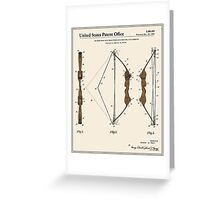 Archery Bow Patent - Colour Greeting Card