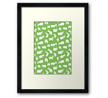 Charity fundraiser - Green Goats Framed Print