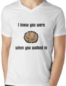 I Knew You Were Tribble (With Shading) Mens V-Neck T-Shirt