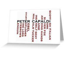 Capaldi Name Tree Greeting Card