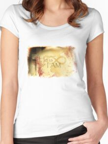 He is I Am Women's Fitted Scoop T-Shirt