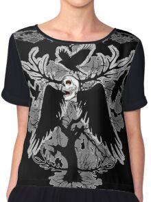 Nightmare Skull and Crows Chiffon Top