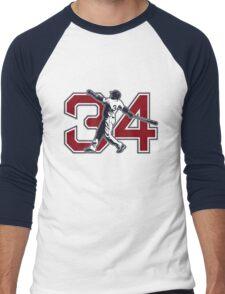 34 - Big Papi (original) Men's Baseball ¾ T-Shirt