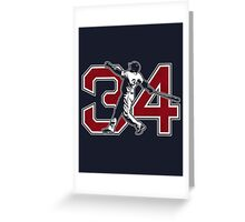 34 - Big Papi (original) Greeting Card