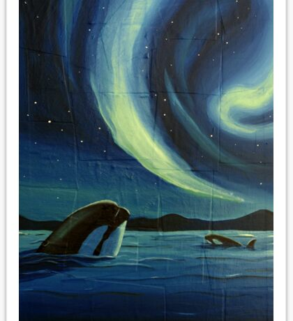 Whale Watching Sticker