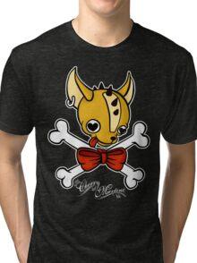 """Chihuahua Crossbones ~ His"" Tri-blend T-Shirt"