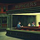 Bobs Burgers Nighthawks by jcarmel