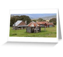 High Country Huts Greeting Card