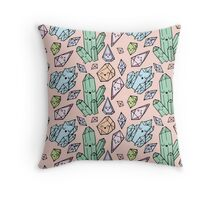 CUTE CRYSTALS Throw Pillow