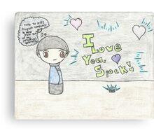 Spirk Chibi Canvas Print