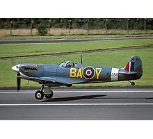 Supermarine Spitfire IIa P7350/BA-Ybar Photographic Print