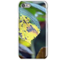 Macro on green and yellow leaves. iPhone Case/Skin