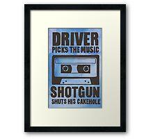 Driver Picks the Music Framed Print