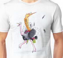 Flaming Carrot Riding An Ostritch Unisex T-Shirt