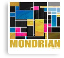 Mondrian Blue Pink Black  Canvas Print