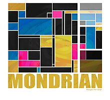 Mondrian Blue Pink Black  Photographic Print