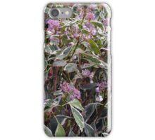 Bush of pink flowers. iPhone Case/Skin