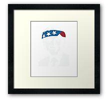 President George W Bush American Patriot Vintage Framed Print