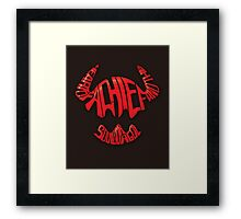 Heart of a Chief Framed Print