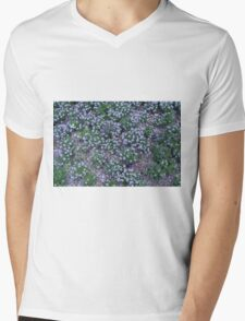 Delicate small purple flowers. Mens V-Neck T-Shirt