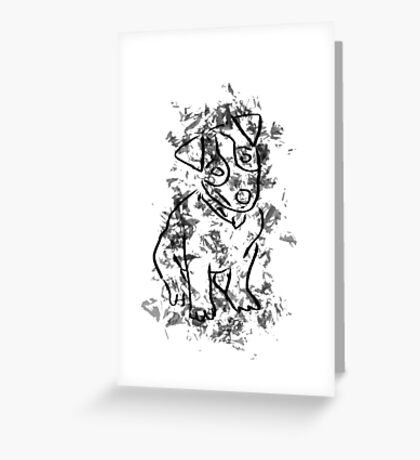 Digital Dog Drawing Greeting Card