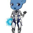 Mass Effect 3: Liara T'soni Chibi by SushiKittehs