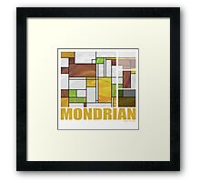 Mondrian Brown Yellow Green  Framed Print