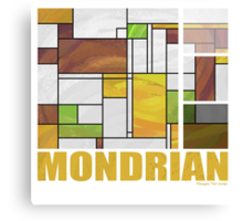 Mondrian Brown Yellow Green  Canvas Print