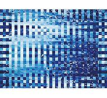 Abstract sea pixel pattern  Photographic Print