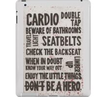 The Rules of Zombieland iPad Case/Skin