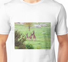 'SHALL WE DANCE!' Kangaroos stand tall. 'Arilka' Mount Pleasant. Unisex T-Shirt