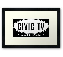 Civiv TV Framed Print