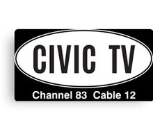 Civiv TV Canvas Print