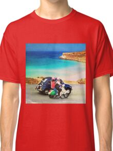Italian lifestyle watercolor painting Classic T-Shirt