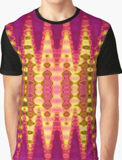 Merging Bubbles Pattern Graphic T-Shirt