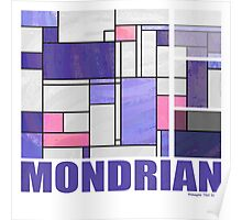 Mondrian Pink Purple White  Poster