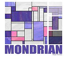 Mondrian Pink Purple White  Photographic Print
