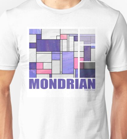 Mondrian Pink Purple White  Unisex T-Shirt