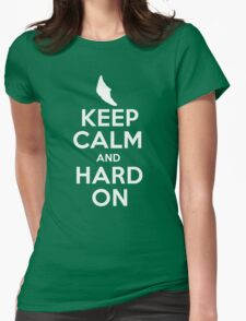 Pokemon - Keep Calm and Hard On - Metapod Design Womens Fitted T-Shirt