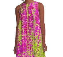 Chartreuse Kiss A-Line Dress
