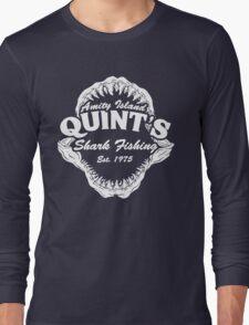 Quints Shark Fishing Amity Island - Jaws Funny 70s Movie Long Sleeve T-Shirt