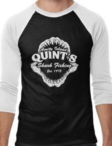 Quints Shark Fishing Amity Island - Jaws Funny 70s Movie Men's Baseball ¾ T-Shirt