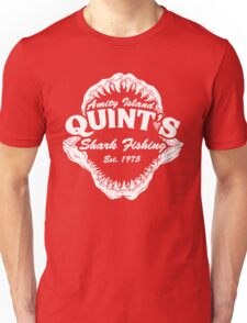 Quints Shark Fishing Amity Island - Jaws Funny 70s Movie Unisex T-Shirt