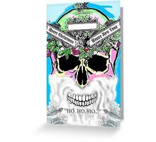 Xmas skull, ho, ho, ho Greeting Card