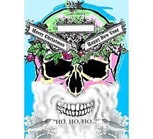 Xmas skull, ho, ho, ho Photographic Print