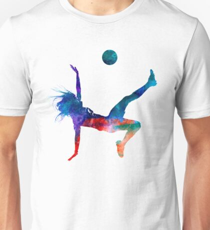 Woman soccer player 08 in watercolor Unisex T-Shirt