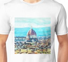 Watercolor painting of Florence Italy Unisex T-Shirt