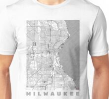 Milwaukee Map Line Unisex T-Shirt