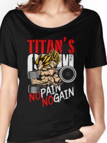 NO PAIN NO GAIN - Goku & Vegeta's GYM Women's Relaxed Fit T-Shirt