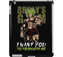 i want you train with me - broly's gym iPad Case/Skin